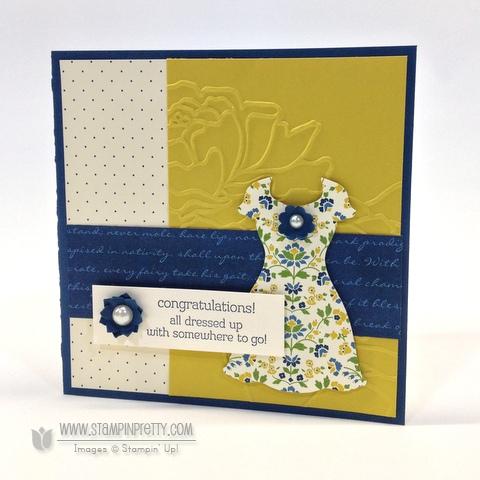 Stampin up stampinup pretty order all dressed up dress up framelit dies spring catalog card idea