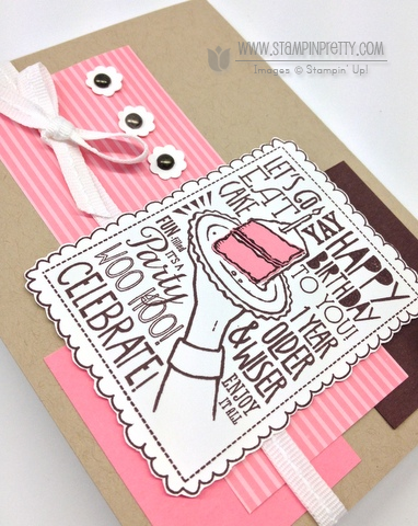 Stampin up stampinup order pretty woo hoo birthday cake punch catalogs card idea