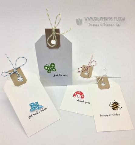 Stampin up stampin up online class tutorial tag idea spring sampler catalog order