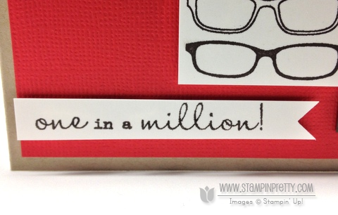 Stampin up stampinup pretty order masculine card idea spectacular glasses mojo monday one in a million