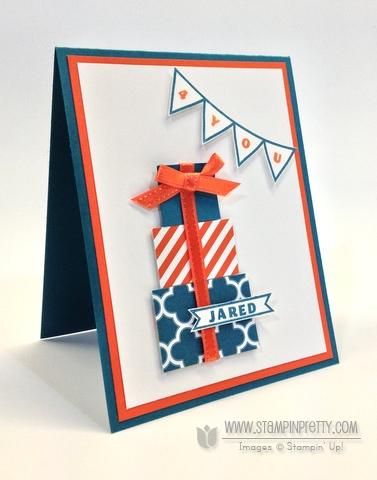 Stampin up stampinup clear photopolymer designer typeset masculine birthday cards saleabration