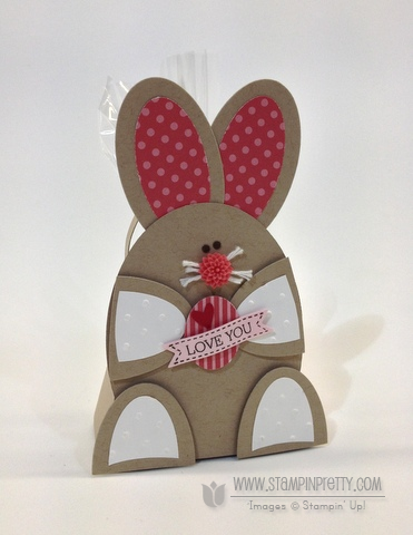 Stampin up stampinup oval punch framelits bunny baskets purse die easter treat box