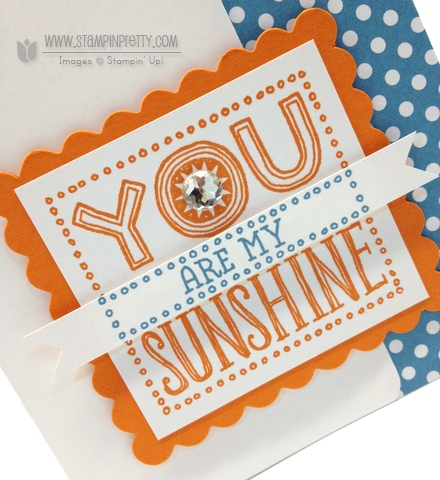 Stampin up stampin up video tutorial scallop square you are my sunshine simple cards idea
