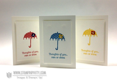 Stampin up rain or shine stampinup spring catalog card idea order online pretty punch
