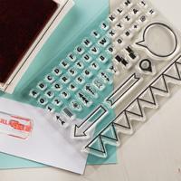 Designer Typeset Photopolymer Stamp Set