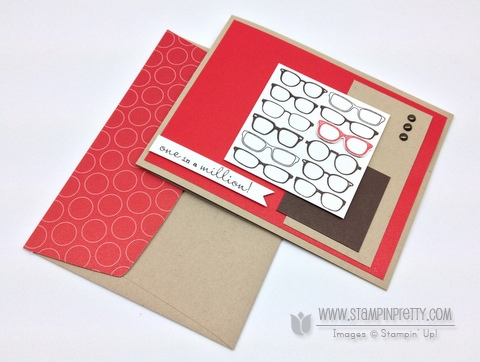 Stampin up stampinup pretty order masculine card idea spectacular glasses mojo monday