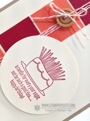 Stampin up stampinup circle square punch masculine best of birthdays card idea
