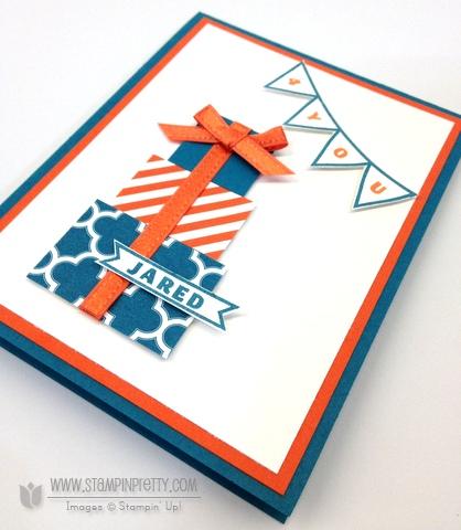 Stampin up stampinup clear orders pretty photopolymer designer typeset masculine birthday card saleabration