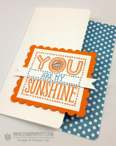 Stampin up stampin up video tutorial scallop square you are my sunshine simple card ideas
