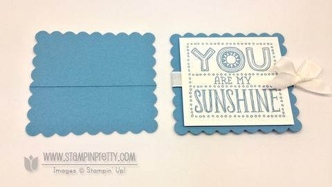 Stampin up stampin up video tutorial scallop square bigz dies you are my sunshine simple card idea