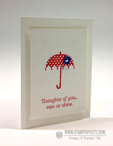 Stampin up rain or shine stampinup spring catalog card idea order online pretty