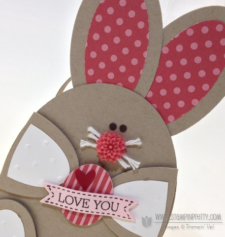 Stampin up stampinup oval punch framelits bunny basket purse die easter treat box