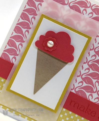 Stampin up stampinup pretty order online ice cream cone cupcakes builder punch catalog card idea