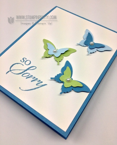 Stampin up stampinup pretty orders online elegant bitty butterfly punch card idea sympathy