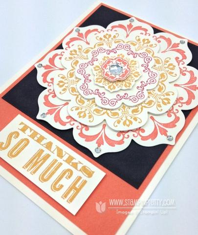Stampin up stampinup order online pretty floral frame framelits die big shot daydream medallions card idea