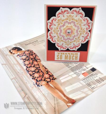 Stampin up stampinup order online pretty floral frames framelits die big shot daydream medallions card idea