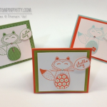 Three Little Stampin' Up! Foxes