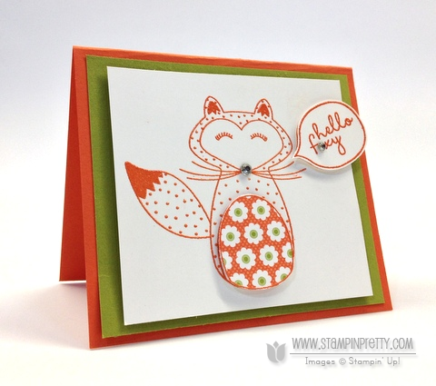 Stampin up stampinup pretty order online free catalogs hello foxy fox card idea demonstrator