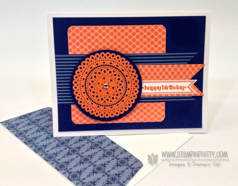 Stampin up stampinup pretty order online lacy and lovely masculine card idea circle punch