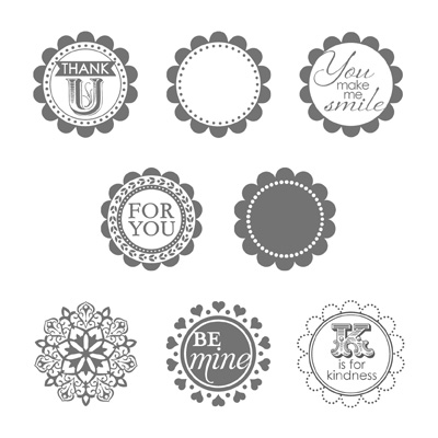 Round array stampin up stampinup card ideas scallop circle punch