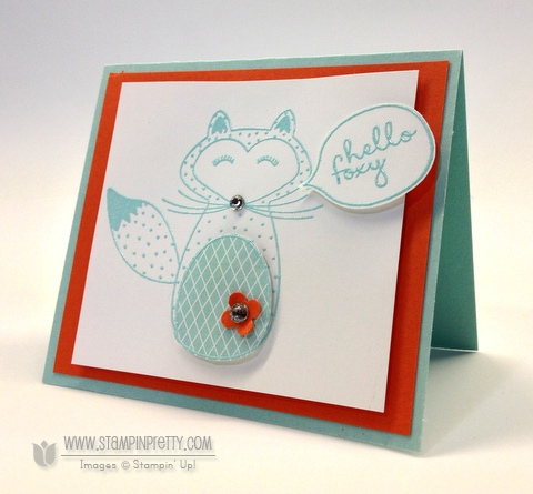 Stampin up stampinup pretty order online free catalog hello foxy fox card idea demonstrator