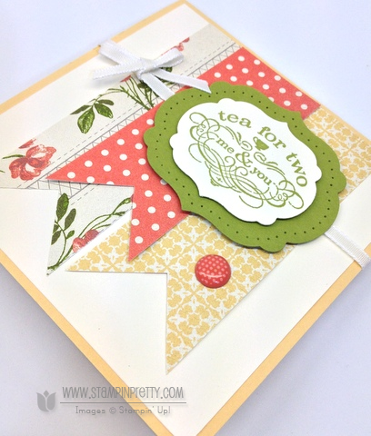Stampin up stampin up mojo monday order online pretty tea shoppe shop card ideas free catalog