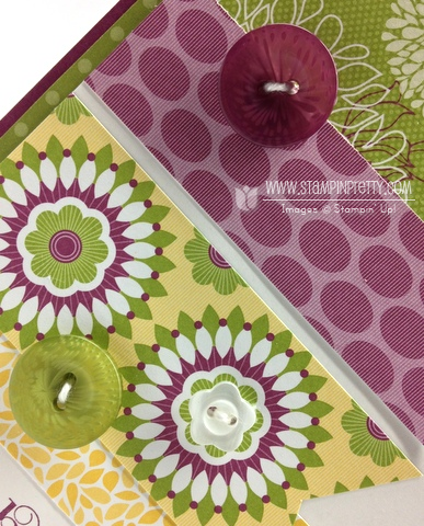 Stampin up stampinup pretty punch free catalog demonstrator card idea retired floral district curly cute