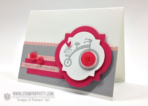 Stampin up stampinup order pretty online free catalogs punch moving forward baby girl card idea