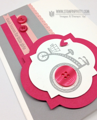 Stampin up stampinup order pretty online free catalog punch moving forward baby girl card idea