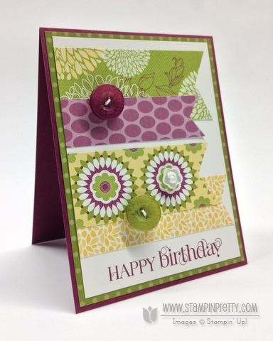 Stampin up stampinup pretty punch free catalog demonstrator card ideas retired floral district curly cute