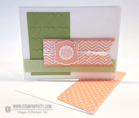 Stampin up stampinup baby card idea label love demonstrators order pretty punch free catalog