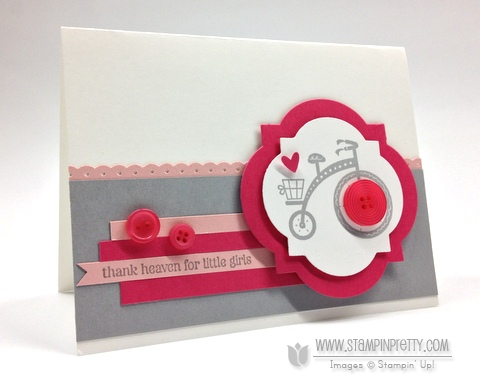Stampin up stampinup orders pretty online free catalogs punch moving forward baby girl card idea
