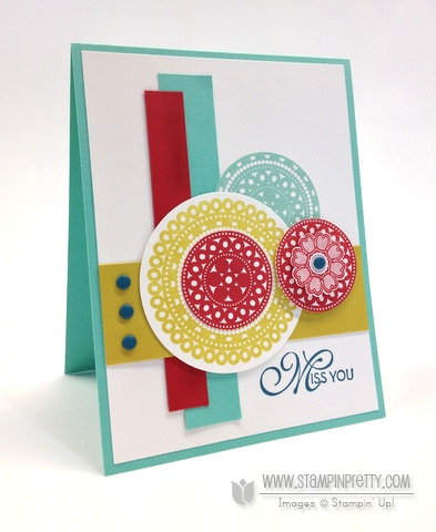 Stampin up stampinup lacy & lovely pretty order online card ideas mojo monday demonstrators circle punch