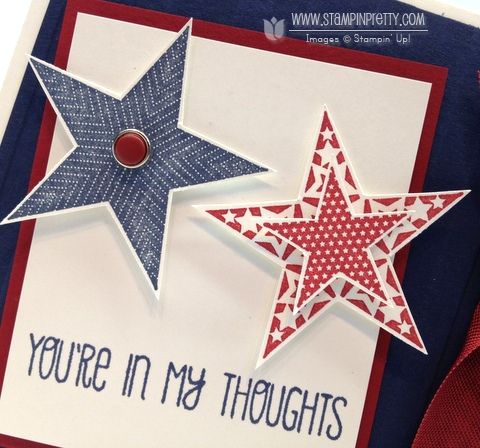 Stampin up stampinup order pretty dozen thoughts patriotic military 4th of july independence day card idea stars