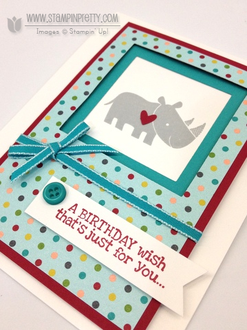 Stampin up stampinup it pretty card idea catalog zoo babies birthday demonstrator order