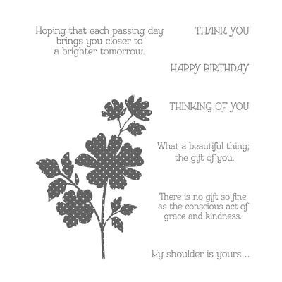 Gifts of kindness stampin up stampinup sympathy card ideas