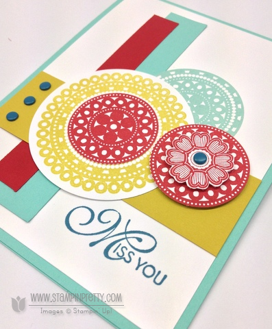 Stampin up stampinup lacy & lovely pretty orders online card idea mojo monday demonstrator circle punch