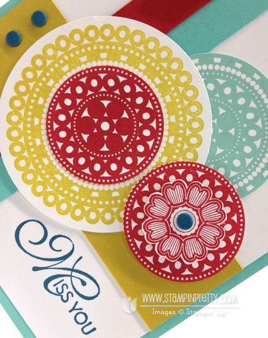 Stampin up stampinup lacy & lovely pretty order online card idea mojo monday demonstrator circle punch