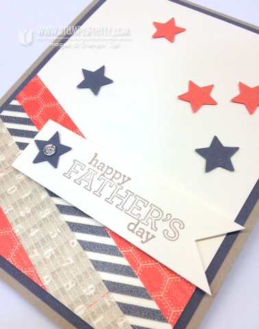 Stampin up stampinup order mary fish pretty fathers day card idea delightful dozen star punch catalogs