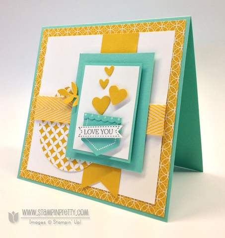 Stampin up stampinup mary fish order online it pretty mojo monday card idea hexagon punch demonstrator