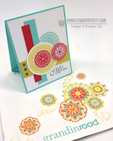 Stampin up stampinup lacy & lovely pretty order online card ideas mojo monday demonstrator circles punch