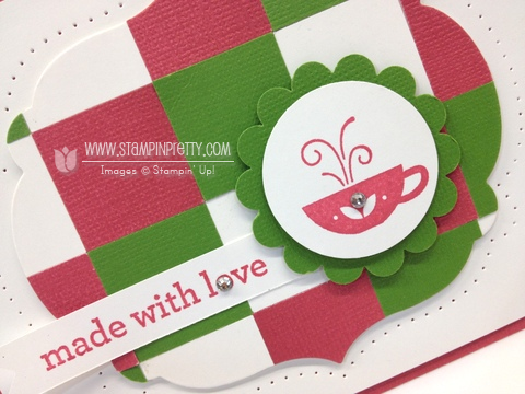 Stampin up stampinup pretty square punch quilt punch free catalog kind & cozy card ideas coffee cups card ideas