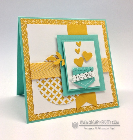 Stampin up stampinup mary fish order online it pretty mojo monday card idea hexagon punch demonstrator blogs