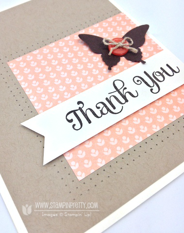 Stampin up stampinup pretty it mary fish order four you thank card elegant butterfly punch
