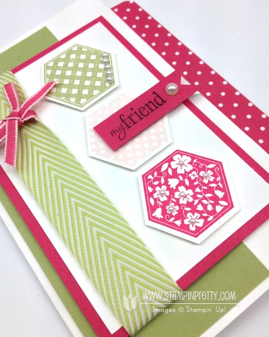 Stampin up stampinup pretty it order online hexagon punch six sided sampler cards ideas demonstrator blog