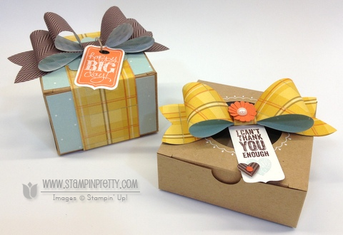 Stampin up stampinup chalk talk stamp it pretty mary fish kraft box gifts idea holiday sweater weather bigz bow die