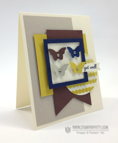 Stampin up stampinup bitty butterfly punch mojo monday get well card ideas free catalog order