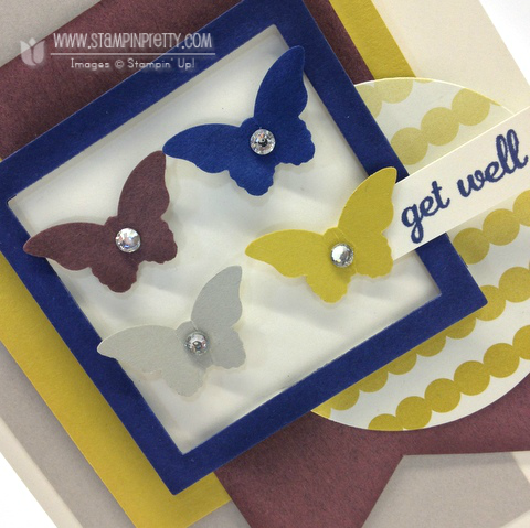 Stampin up stampinup bitty butterfly punch mojo monday get well cards idea free catalog order pretty