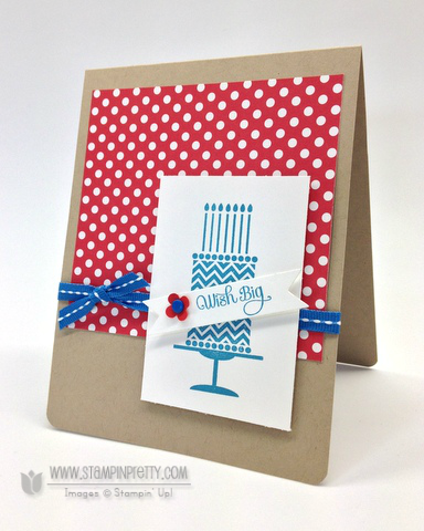 Stampin up stampinup it pretty order dozen thoughts birthday card ideas cake punch