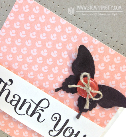 Stampin up stampinup elegant butterfly punch paper piercing four you card ideas thank you